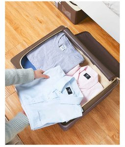 Storage Boxes Bins Home under bed wardrobe Oxford cloth folding fabric clothing quilt steel frame finishing