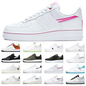 AirForce1 Low AirForce 1 Men Women Running shoes Zig Zag Sketch Black White Toon Squad The Great Unity Rayguns Pink Rose Neon Trainers Sports Sneakers Size 36-45