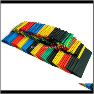 Aessories Supplies Electronic Components Office School Business & Industrial Drop Delivery 2021 328Pcs Polyolefin Assorted Heat Shrink Tubing