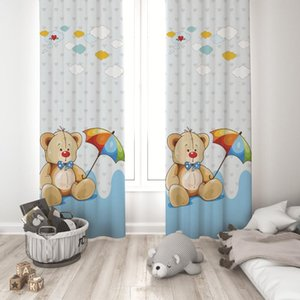 Curtain & Drapes 3D Print Sailor Cute Bear Embroidered Tulle For Living Room Bedroom Curtains Kitchen Sheer Kids Baby Door Window