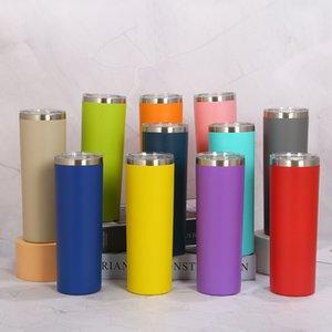 20oz Tumblers 20 Colors Stainless Steel Water Bottles Double Insulated Vacuum Cups Drinking Milksea Coffee mug sea way 828 B3