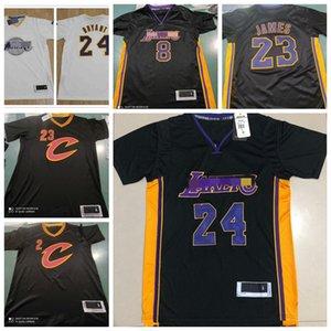 2021 nuevos los angelesLakersKobeBryantHombres LeBron James ClevelandCaballerosKyrieIrvingJerseys de baloncesto de la ciudad
