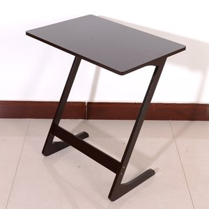 WACO Modern Simple Sewing Machine Table, Small Style Computer Desk Coffee Side Table for Home Study Office PC Writing Workstation,Metal Frame,Black