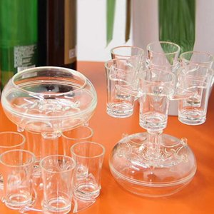 6 Shot Acrylic Cups Dispenser Holder Wine Whisky Beer Dispenser Rack Bar Accessories Liquor Dispenser Party Games Drinking Tools