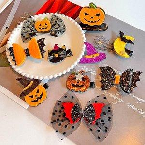 Girls Hair Accessories Clips Halloween Hairdressing Festival Shows Pumpkin Hat Kids Barrettes Baby BB Clip Hairpin Headdresses B8198