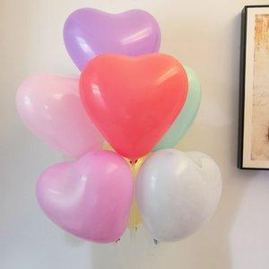 100 unids / paquete amor corazón forma confesión fiesta globos macarrones surtido color látex romántico decoración para cumpleaños boda baby shower
