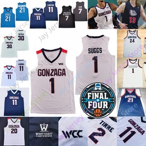 2021 Final Dört Gonzaga Bulldogs Basketbol Jersey NCAA Koleji Jalen Suggs Filip Petrusev Ryan Woolridge Joel Ayayi 12 stockton Corey Kispert