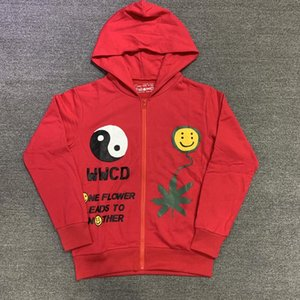 21SS 1 High Quality Hoodie Zipper 3D Coat Hip Hop sSweatshirt Men Women