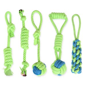 Wholesale Pets dog Cotton Chews Knot Toys colorful Durable Braided Bone Rope Funny cat