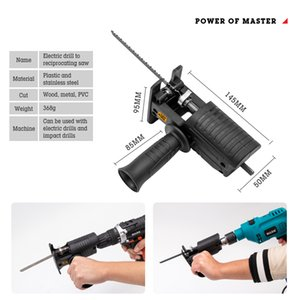 Portable Reciprocating Saw Adapter Electric Drill Hardware Tools Modified Chainaw Power Tool Wood Cutter Machine Attachment