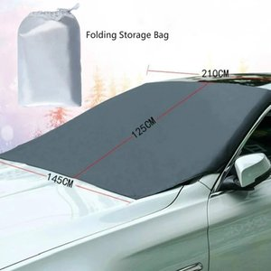 Car Front Windscreen Magnetic Sunshade Cover Auto Windshield Snow Sun Shade Waterproof Protector Winter Viosor