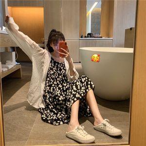dresses Daisy French first love Platycodon iflorum Flower Beach Holiday loose sleeveless suspender children's summer thin