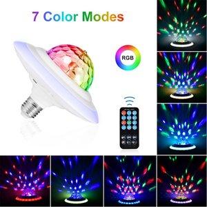 LED Effects E27 UFO Bluetooth Crystal Magic Ball Lamp Remote Control RGB Light Music Bulb Multi-color Disco Stage Night Lights