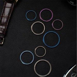20mm / 26mm / 33mm gris TC4 Alliage d'alliage de titane Bague à clé EDC EXCEPTOIR PETIT TOOL BLUE KEY BAGUE ACCESSOIRES 725 Z2