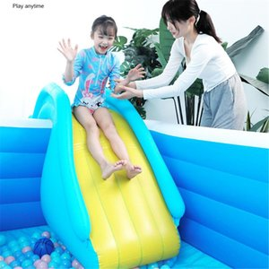 Inflatable Floats & Tubes Pool Water Slide Party Kids PVC Indoor Outdoor Children Playing Toys Swimming Accessories