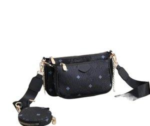 Multi Pocket accessories Handbag purse leather shoulder strap women's purse 3 Piece Set 01