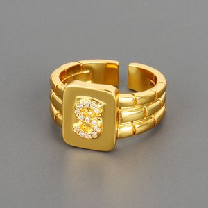 Ins net red same English creative personality strap 26 letter ring