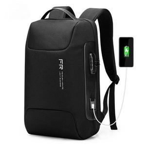 Fenruien Waterproof 15.6 Inch Men Laptop Backpack Usb Charging School Bag Anti Theft Male Travel Backpacks 2021