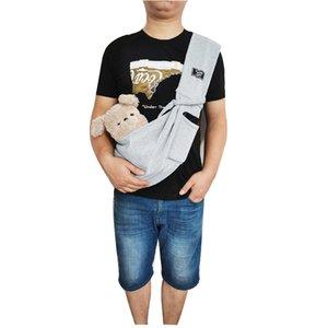 Pet Backpack Dog Bag Go Out Portable Kangaroo Bags Solid Color One Shoulder Slant Over Breathable Pet-Bag GWF10452