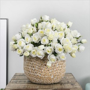15 Heads Artificial Silk Rose Flower Bouquet For Home Living Room Arrange Table Wedding Decoration Party Accessory FlowerS