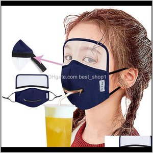 2 In 1 D Drinking Mask With Adjustable Zipper Adult Kids Designer Eye Shield Dustproof Mouth Cover Washable Face Masks Gchch Cea2B