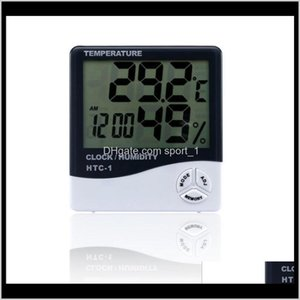 Household Thermometers Digital Lcd Temperature Hygrometer Humidity Meter Thermometer With Clock Calendar Alarm Htc1 100 Pieces Up Owf3 1Kuly
