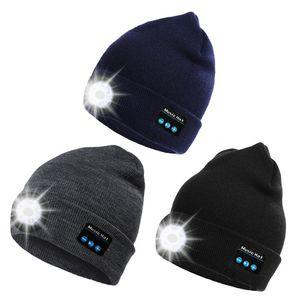 DROPSHIP Wholesale Warm Beanie Hat Wireless Bluetooth Smart Cap Headphone Headset Speaker Mic