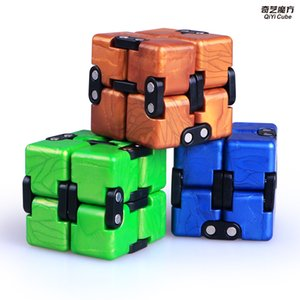Qiyi infinito cubo de quebra-cabeça brinquedo 2x2 cubos mágicos flip cúbico sensor de estresse brinquedos presentes crianças presente 2x2x2 velocidade cubo mago