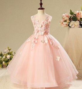 Flower Girl Dresses for Weddings Pageant First Communion Dress Little Girls Ball Gowns