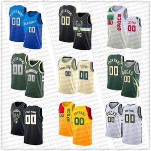 Giannis 34 Antetokounmpo Costume Jerseys Khris 22 Middleton Jrue 21 Holiday Donte 0 Divincenzo MilwaukeeBucks.NBA.Homens