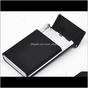 Étuis de cigarettes Accessoires de fumée House Sundries Home Jardin Drop Livraison 2021 Étui pour 20pcs 100mm Longue Cigarettes Pack T200111 IIPSN