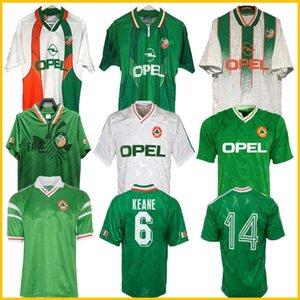 1992 IRLANDA Retro Fútbol Jersey 1990 Inicio Classic Jersey Vintage İrlanda Sheily 1994 1995 1996 Vehículos De Fútbol Camisas 1998 McGrath Keane 94 96 98 Houghton Aldridge