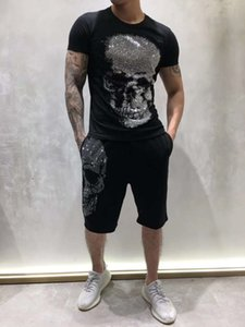 Summer Mens Designer T shirt German Rock Punk Fashion Style Diamond Big Skull T shirt Brand Clothing T-shirts High Quality Hip Hop Tees