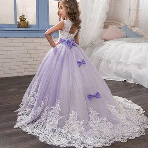 Red Girl Lace Embroidery Christmas Birthday Party Dress Flower Wedding Gown Formal Kids Dresses For Girls Teen Clothes 6 14 Yrs 981 X2