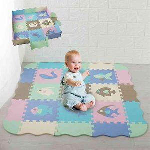 25pcs Set Baby Play Mat Folding Mat For Children Kids Surface Activity Crawled Mats Eva Foam Puzzle Toys Child Floor Puzzles 210402