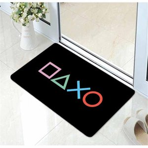 Cool Video Game Playstation Gaming Door Mat Flannel Funny Controller Rug Carpet Doormat For Gamer Gift Home Room Decor Carpets