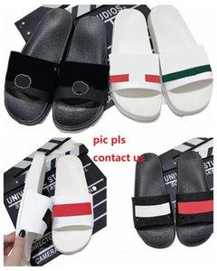 Klasik harfler Terlikler Moda Yaz Düz Terlik Kadınlar Için Erkek Kapalı Açık Rahat Slayt Sandalet Severler Plaj Ayakkabı 4 Renkler