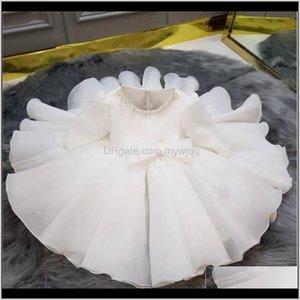 Girls Kids Dresses For Princess Wedding 1St Birthday Party Baptism Baby Dress Pearl Children Ball Gown B4Qfa H45Zu