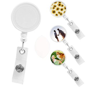 Sublimation Blank Nurse Badge Party Favor Plastic DIY Office Work Card Hanging Buckle Can Be Rotated 360 Degrees GWB9947