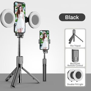 Selfie Monopods Wireless Bluetooth-compatible Stick With Led Ringlight Foldable Tripod Withshutter Release Remote Control For Ios Android