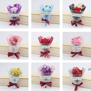Mini Christmas Valentines Day Gift Dried Artificial Flower Fake Eternal Gypsophila Bouquet Creative Soap Flowers AHD6247