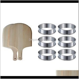 Baking Pastry Tools Bakeware Kitchen, Dining Bar Home Garden1Set 12Inch Wooden Pizza Paddle Spatula  Pizza Shovel & 6 Pieces Muffin Rings Dou