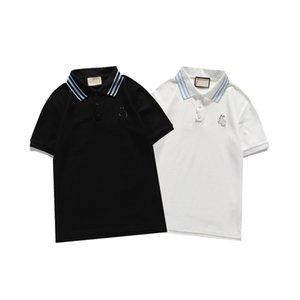 Erkek Tasarımcı Polo T Shirt Marka Trend Giyim Kadın Lüks Tasarımcılar Pamuk Giysileri Moda Rahat Yaka Gömlek Kısa Kollu