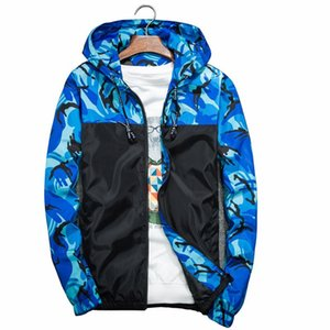 Men's Jackets 2021 Casual Fashion Bomber Jacket Camouflage Military Trend Coat Cool Hooded Windbreaker Zipper Outwear Clothing M-5XL