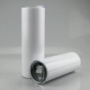 15oz 20oz 30oz Sublimation Straight Skinny Tumbler 15oz 20oz 30oz Stainless steel blank white skinny cup with lid straw sea ship RRE9501