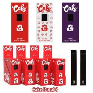 Cake Delta 8 Disposable E cigarettes Device 280mAh full gram 1.0ml Capacity Rechargable Vape Pen