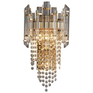 Luxury Crystal Wall Lamps Postmodern Simple Gold Crystal Lights Creative Living Room Decoration Wall Light Nordic Bedroom Staircase Lamps led Indoor Home Lighting