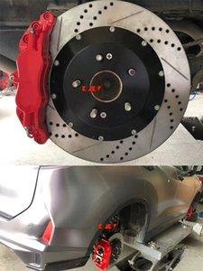 KLAKLE 5200 Designer Brakes Kit Cars Disc 330*28MM 4 Pot Brake Caliper Rear Wheel 17 Inches For Honda Acura CDX