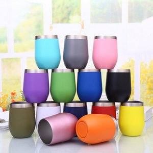 12oz Stainless Steel Stemless Insulated Thermos Mug Vacuum Thermos Cup Mug Swig Tumber OZ Egg Shaped cup Wine beer mug