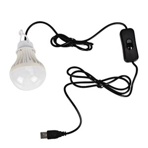 Bulbs Jiguoor 5V 5W Camping LED Bulb USB Port Touch Switch Outdoor Light Energy Saving Hiking